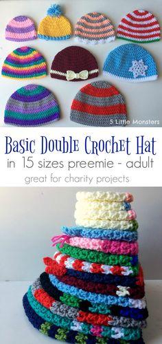 Preemie Crochet, Crochet Baby, Free Crochet, Knit Crochet, Crocheted Hats, Crochet Braids, Crochet Beanie Pattern, Easy Crochet Patterns, Knitting Patterns