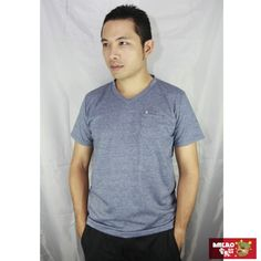 【AMERO】男裝短袖V領精梳棉T恤(灰)-momo購物網