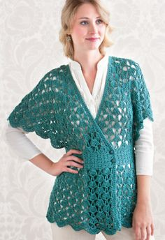 Spa Shawl Top from Doris Chan, one of my favorite crochet designers