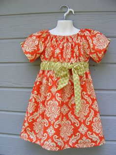 I love to make peasant dresses for my girls endless options, fast and so cute,