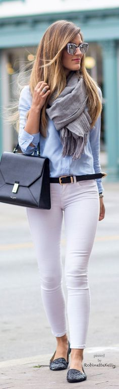 50 white pants work outfit ideas - pants outfits business casual and suit. Mode Outfits, Casual Outfits, Fashion Outfits, Jean Outfits, Fashion Tips, Fashion Mode, Work Fashion, Trendy Fashion, Mode Jeans