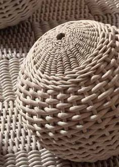 Woven clay by Rina Peleg (early work) #finecraft