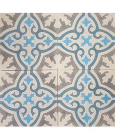 Havana Celeste Blue Encaustic Cement Tile