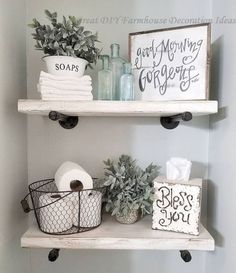 : Goodecor 50 Awesome Industrial Farmhouse Design ideas to complement your . - do it yourself decoration - Goodecor 50 Awesome Industrial Farmhouse Design Ideas to complement your … - Industrial Farmhouse, Farmhouse Design, Farmhouse Decor, Farmhouse Style, Farmhouse Ideas, Industrial Bathroom, Country Style, Industrial Design, Farmhouse Homes