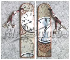 WOODEN BOOKMARK handmade decoupage one copy by MEGSWORD on Etsy                                                                                                                                                                                 More