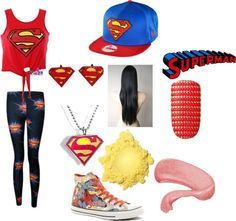 supergirl casual costume outfits love it !!!