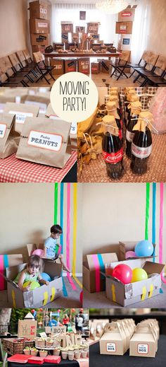 moving party inspiration board, I want a moving party! Party Fiesta, I Party, Work Party, Moving Away Parties, Goodbye Party, Packing To Move, Packing Tips, Farewell Parties, Moving Day