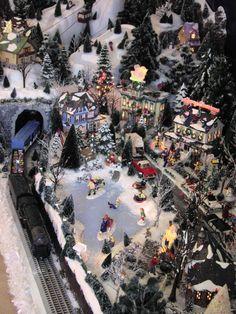 Christmas Village Ideas | Christmas Snow Village, Using Dept 56 Snow Village pieces styrafoam ...