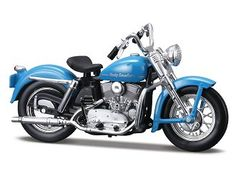 This Harley Davidson K Model Diecast Model Motorcycle is Blue and features working stand, steering, wheels. It is made by Maisto and is scale (approx. Motos Harley Davidson, Miniature Cars, Athena Goddess, Electra Glide, Motorcycle Bike, Diecast Models, Scale Models, Motorbikes, Vehicles