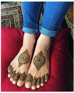 Simple Feet mehandi #henna