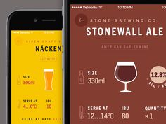 Playing around with different beer style layouts #iphone #design #app