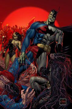 Batman: Day of the Composites [Cancelled] Art by: Ethan Van Sciver and Moose Baumann Dc Comics Heroes, Dc Comics Characters, Dc Comics Art, Marvel Dc Comics, Comic Movies, Comic Books Art, Comic Art Community, Mundo Comic, Comics