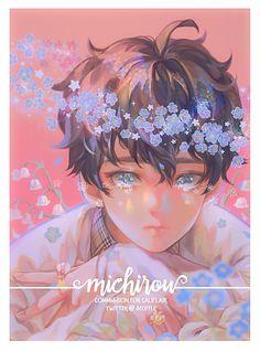 """michirou for cali💓"" Cartoon Kunst, Anime Kunst, Cartoon Art, Aesthetic Art, Aesthetic Anime, Kawaii, Character Illustration, Illustration Art, Manga Art"