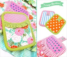 ScrapBusters: Scrappy Ruffled Oven Mitts | Sew4Home