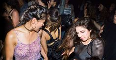 Lesbian grinding at clubs