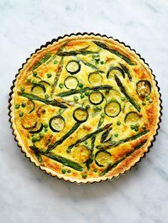 Quiche Primavera, de quesos y verduras.