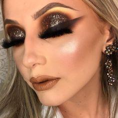 Make por Kamilla Teixeira ❤ Glam Makeup Look, Fall Makeup Looks, Sexy Makeup, Kiss Makeup, Love Makeup, Beauty Makeup, Hair Makeup, Makeup Inspo, Makeup Inspiration