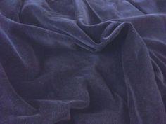 Luxury-100-Cotton-Velvet-Velour-Fabric-Material-NAVY