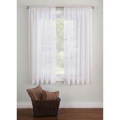Better Homes And Gardens Elise Woven Stripe Sheer Window Panel. Short  CurtainsStripe ...