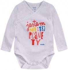 Ubranka dla niemowlaka: http://endo.pl/dla-niemowlaka Endo ubranka dla dzieci  Body z długim rękawem na zakładkę dla niemowlaka N52M021_1