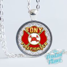 Firefighter gift custom necklace First Responder fire fighter gift for heroes gift for her gift for husband by ThePendantPlanet