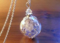 Sterling silver FORGETMENOT necklace something by Annaleasfinest, $49.00