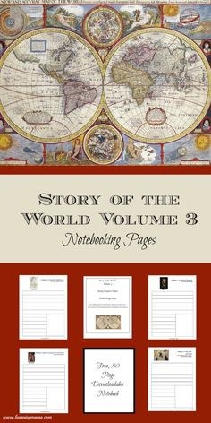 Story of the World Volume 3 Notebooking Pages. Free, downloadable notebooking pages for SOTW 3: Early Modern Times