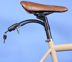 The Interlock Bicycle Lock Pulls Out Of Your Bike Seat