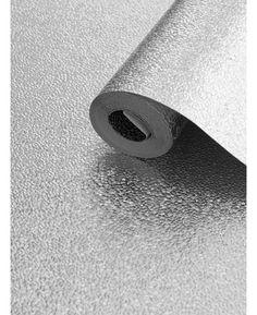 Muriva Amelia Metallic Textured Wallpaper - Silver 701430