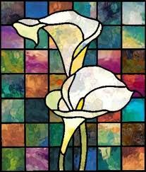Stained Glass Cross - 10 in tall - Calla Lily Stained Glass Quilt, Stained Glass Flowers, Stained Glass Designs, Stained Glass Panels, Stained Glass Projects, Stained Glass Patterns, Mosaic Art, Mosaic Glass, Mosaics