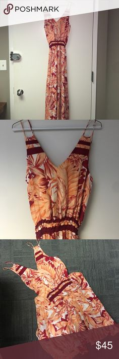 NWOT Parker tropical maxi Festive red and pink tropical Parker maxi Parker Dresses Maxi