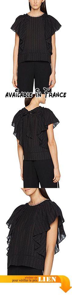 B072HNZZWJ : Noa Linear Sheer Blouse Femme Noir 42.