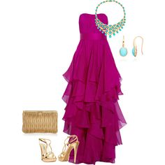 Purple & Turquoise, created by abonney on Polyvore