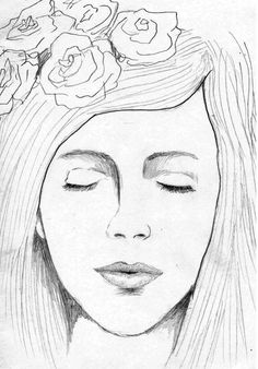 Woman Face Sketch by Hendy Thong, via Behance