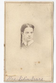 Lydia Elvira Paine Sears CDV Photograph by FamilyTreeAntiques, $12.00.  Lydia Elvira Paine was born 1832 in Boston Massachusetts and died 1898 in California the second wife of John B. Sears.