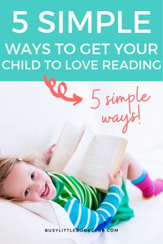 Reading helps children academically, socially, emotionally, and developmentally—here are 5 simple ways to get your child to love reading! Encourage your child to read, help them be more proficient readers, and focus on building early literacy skills. Reading Help, Love Reading, Literacy Skills, Early Literacy, Educational Activities For Kids, Preschool Activities, Child Love, Your Child, Subscriptions For Kids