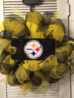 Pittsburgh Steelers Deco Mesh Wreath by Gypsy505Soul on Etsy