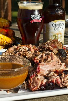 Pulled Pork w/ Samuel Adams BBQ Sauce-this really looks good! Beer Recipes, Rib Recipes, Barbecue Recipes, Grilling Recipes, Cooking With Beer, Man Food, Pork Dishes, Side Dishes Easy, Pulled Pork