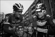 Fabian Cancellara & Bernie Eisel at the start by kristof ramon, via Flickr