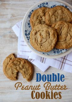 "Double the peanut butter...double the fun!  These ""Double Peanut Butter Cookies"" are my absolute favorite!"