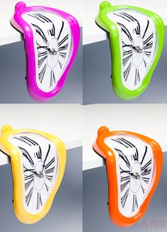 Table Clock Flow Pop Assorted