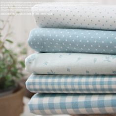 Love this collection of gentle blue prints. Would be calming and sweet for any pastel bedroom, and very cuddly in flannel.