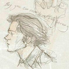 Supernatural Drawings, Supernatural Fan Art, Supernatural Cartoon, Drawing Sketches, Art Drawings, Drawing Tips, Sketching, Sketch Inspiration, Character Inspiration