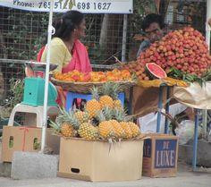 Fruit vendors, Mauritius