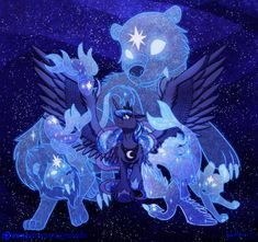 If there are Ursa Minor and Major, are there any of the other constellations? Anywho, just had an idea for Luna to have familiars, who are basicly the souls(?) of these constellation creatures. Dessin My Little Pony, My Little Pony Comic, My Little Pony Drawing, My Little Pony Pictures, Celestia And Luna, Arte Do Kawaii, My Little Pony Wallpaper, My Little Pony Princess, Nightmare Moon
