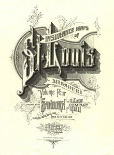 Sanborn Map Company ca. 1909 St. Louis, MO Insurance Maps Vol. 4 Cover