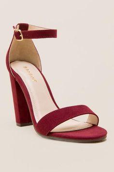 Merlot 2-Piece Micro Block Heel-Burgundy