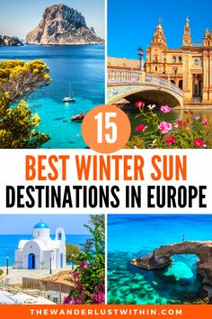 As winter approaches and the temperatures drop it's time to start planning a winter sun holiday in Europe. If you're looking for some short haul winter sun, this compilation of 15 of the warmest places in Europe in winter is exactly what you need. I've listed the best winter sun destinations in Europe, so you can enjoy a sunny getaway this winter #wintersun #europetravel   | winter sun destinations europe | winter sun europe | winter sun destinations travel | winter sun destinations holidays European Travel Tips, European Vacation, Europe Travel Guide, European Destination, Travel Abroad, Winter Travel, Holiday Travel, Winter Sun Destinations, Travel Destinations