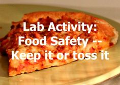 This activity provides a hands-on way to review food safety rules using real world examples.