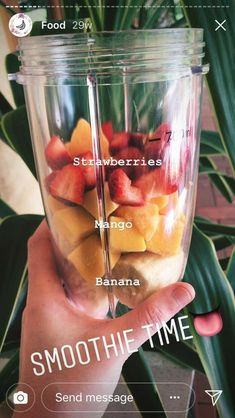 Best Images Fruit smoothies are essential for good hygiene . Style Healthy Smoothie Formula Everyone loves a great smoothie , but not everybody really feels about the Fruit Smoothie Recipes, Easy Smoothies, Smoothie Drinks, Frozen Fruit Smoothie, Mango Pineapple Smoothie, Yummy Drinks, Healthy Drinks, Healthy Snacks, Healthy Recipes